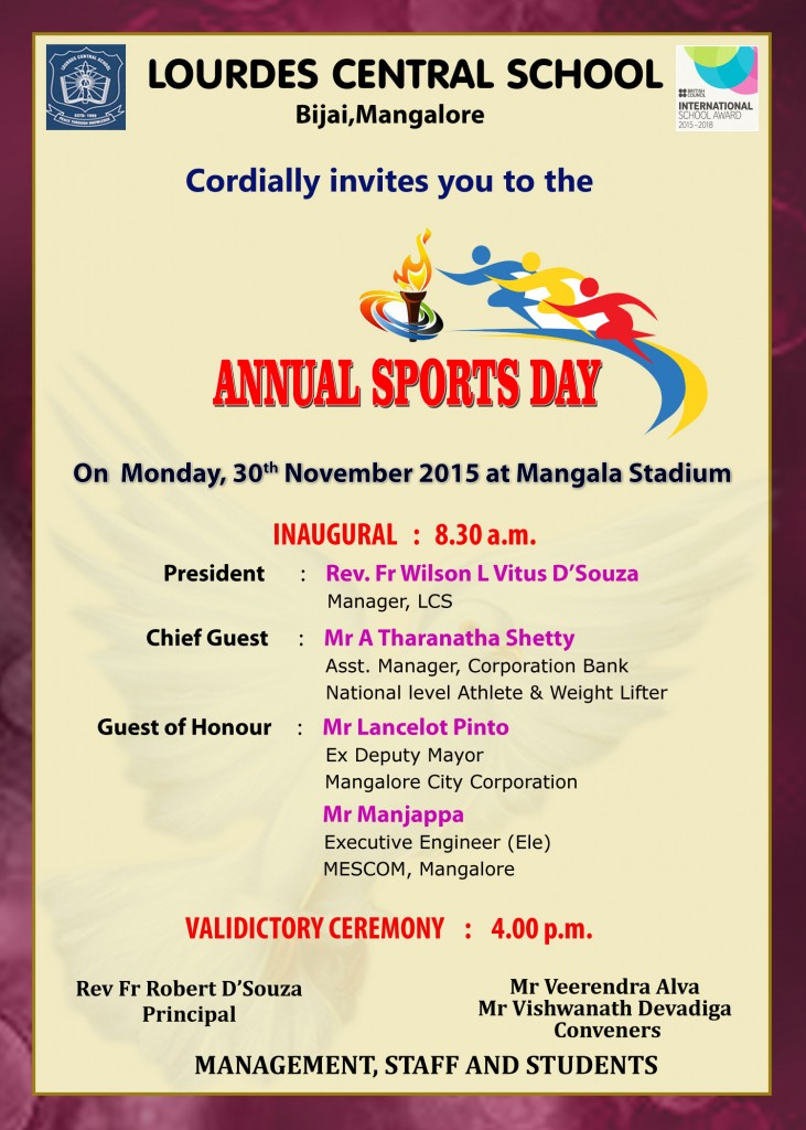Annual sports day invitation lourdes central school bijai annual sports day invitation stopboris Choice Image